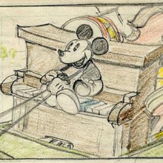 Crayonné de Mickey pour le court métrage.