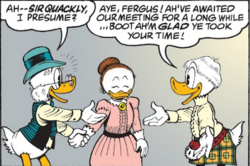 Fergus sa femme et sir duncan
