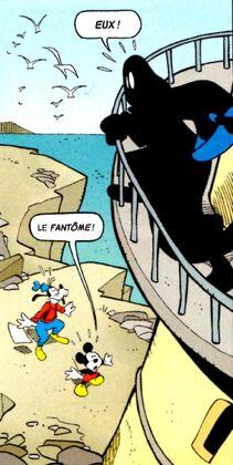 Mickey et Dingo face au Fantôme noir