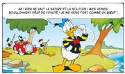 Donald prêt à camper à la rivière rouge
