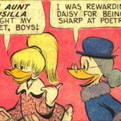 Daisy dans son look des années 1960, dessinée par Barks.