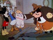 Pat Hibulaire, Donald Duck et Mickey Mouse Le Déménagement de Mickey