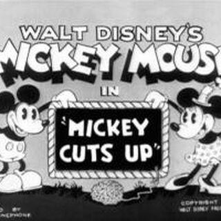 Le <i>title card</i> de <i>Mickey Cut Up</i>.