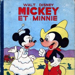 Couverture de l'album n°24 <i>Mickey et Minnie</i>, paru chez Hachette, qui illustre l'histoire.