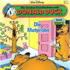 Couverture du <i>Die besten Geschichten mit Donald Duck - Klassik Album 41</i>, dont son auteur reste inconnu.