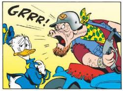 Donald ne craint pas les rugissements des anges du macadam