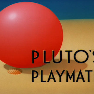 Le <i>title card</i> de <i>Pluto's Playmate</i>.