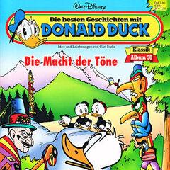 Couverture de l'album allemand <i>Die besten Geschichten mit Donald Duck</i> n°58 illustrant l'histoire et réutilisant une case de <a href=