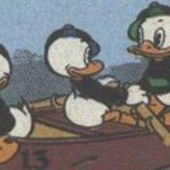 Riri, Fifi et Loulou dessinés par Taliaferro en 1939.