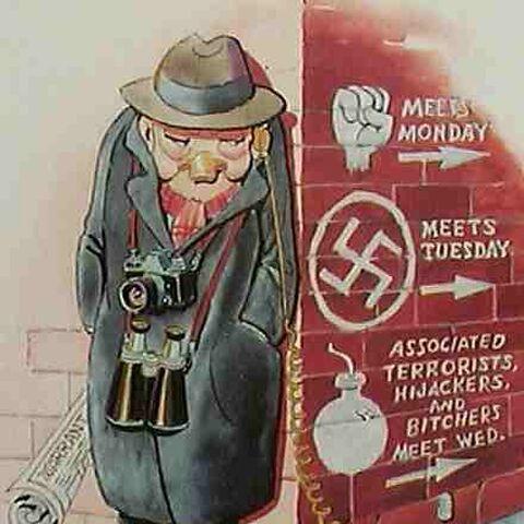 Caricature de Hoover par Carl Barks en 1978.