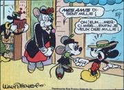 Anne de Lahôte présentant sa nièce à Mickey Mouse