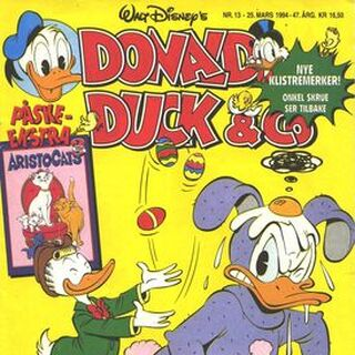 Couverture du magazine norvégien <i>Donald Duck & Co</i> n°1994-13 illustrant l'histoire et dessinée par <a href=