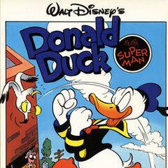 Couverture du magazine du Pays-Bas <i>Donald Duck als superman</i> illustrant cette histoire.