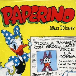 Couverture de <i>Paperino di Barks collezione ANAF</i> n°1-0 faisant référence à l'histoire. Elle reprend des dessins réalisés par <a href=