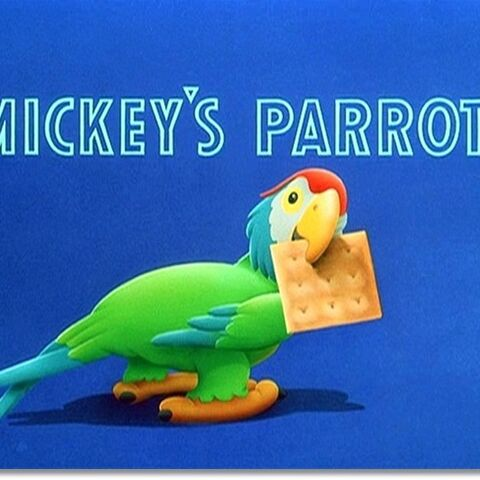 Le <i>title card</i> de <i>Mickey's Parrot</i>.