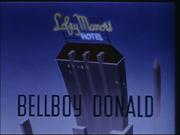 Title card Donald groom d'hôtel