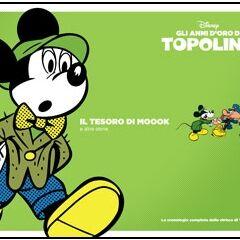 Couverture de <i>Gli anni d'oro di Topolino</i> n°12, reprenant un dessin de l'histoire.