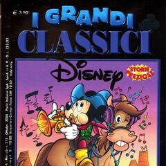 Couverture illustrant l'histoire réalisée par Donald Soffritti pour <i>I Grandi Classici Disney</i> n°215. Cette couverture sera réutilisée pour d'autres parutions italiennes mais aussi une brésilienne.