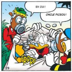 Géo et Donald ont retrouvé Picsou dans un des fruits d'Esmeralda