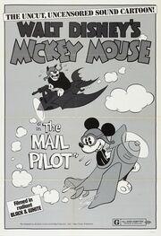Affiche de Mickey postier du ciel