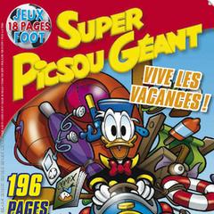 Couverture de <i>Super Picsou Géant</i> n°170, illustrant les départs des grandes vacances.