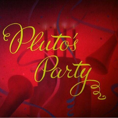 Le <i>title card</i> de <i>La Fête de Pluto</i>.