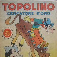 Couverture du magazine italien <i>Albi d'oro</i> n°46029, reprenant une case de l'histoire.