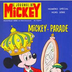 Premier numéro du <i>Mickey Parade</i> bis paru le 3 avril 1966, qui porte le numéro 723.