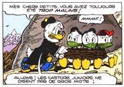 Archibald Gripsou capturant Riri, Fifi et Loulou Duck