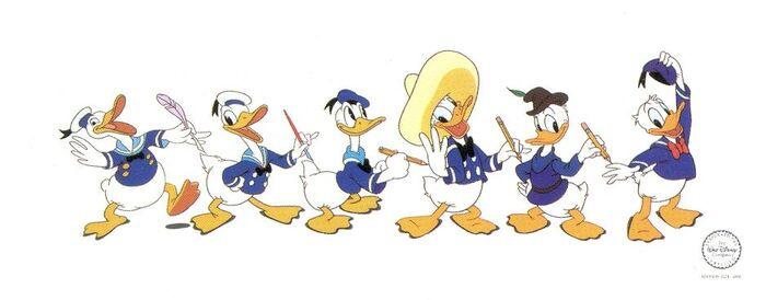 Évolution Donald Duck