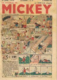 Le Journal de Mickey (avant-guerre) n°421