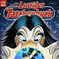 Couverture de la revue allemande <i>Lustiges Taschenbuch</i> n°385 du 5 janvier 2009 illustrant le récit.