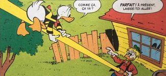 Géo présente sa nouvelle invention à Donald