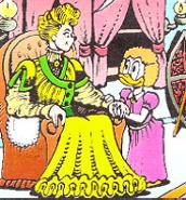 Mme Roosevelt avec Hortense Picsou