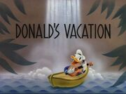 Title Card de Donald fait du camping