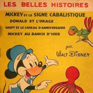Couverture de la revue <i>Les Belles Histoires de Walt Disney</i> n°28 du 1er mai 1956 illustrant ce récit. Elle reprend une illustration de <a href=