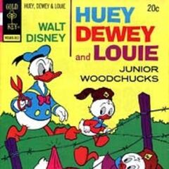 Couverture du <i>Huey, Dewey and Louie Junior Woodchucks</i> n°23 paru en novembre 1973, qui illustre l'histoire. Elle a été dessinée par Kay Wright.
