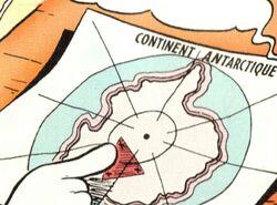 Carte de l'Antarctique (Pôle Sud)