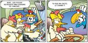 Fantomiald trouve des poules dans un camion