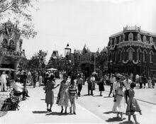 Allée de Disneyland années 1950