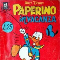 Couverture de la revue italienne <i>Albi della rosa / Albi di Topolino</i> n°67 dessinée par Ambrogio Vergani.