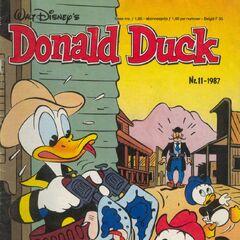 Couverture de la revue hollandaise <i>Donald Duck</i> n°1987-11 illustrant l'histoire et dessinée par <a href=