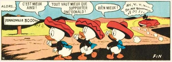 Donald et le perroquet extra-lucide - Fin