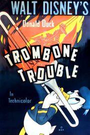 Trombone trouble poster donald 1944