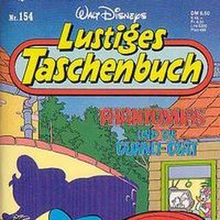 Couverture de la revue allemande <i>Lustiges Taschenbuch</i> n°154 du 22 janvier 1991 illustrant ce récit.