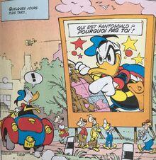 Donald et l'affiche du film sur Fantomiald