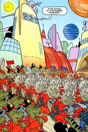 L'armée de dinosaures prêtent à envahir la Terre