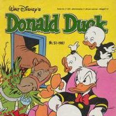 Couverture de la revue néerlandaise <i>Donald Duck</i> n1987-51 dessinée par Ed van Schuijlenburg.