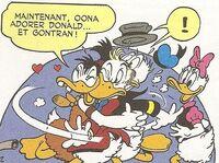 Oona amoureuse de Gontran et Donald