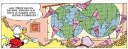 La carte des dépôts secrets de Picsou